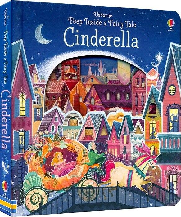 Britain Original English 3D Flip Book for Children Usborne Peep Inside A Fairy Tale Cinderella Education peep inside night time