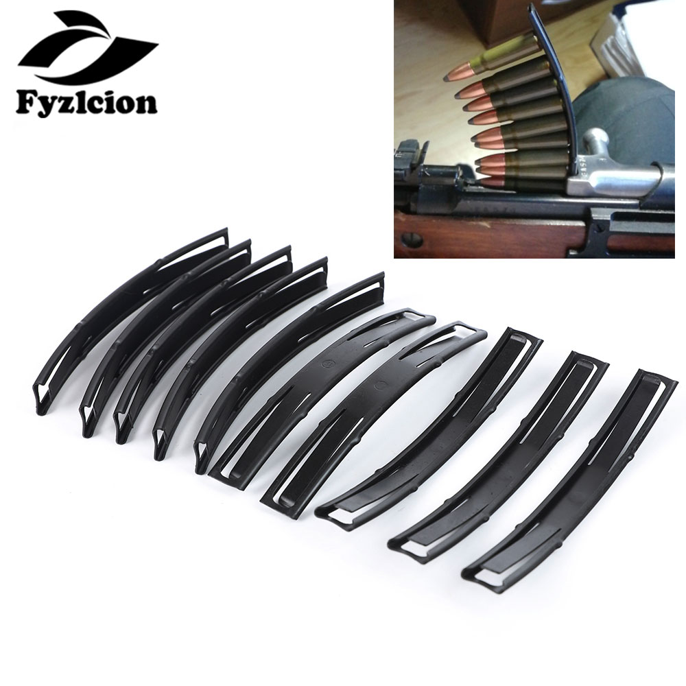 10PCS Hunting Accessories 7.62x39  Loader Steel Stripper Clips For Hunting Tactical AK SKS Loader 10 Round