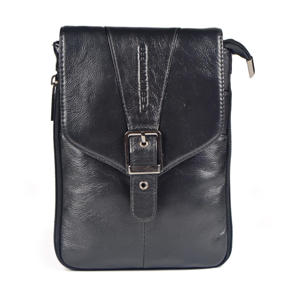 ФОТО 100% guarantee genuine leather small messenger bags for men phone crossbody shoulder bags male cowhide handbag