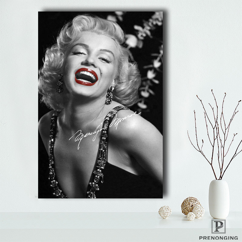 Canvas Poster Silk Fabric PL#192 Custom Marilyn Monroe Home Decor Modern For Bedroom  Poster Size  Poster @190414-S-01