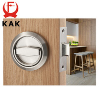 KAK Hidden Door Locks Stainless Steel Handle Recessed Cabinet Invisible Pulls Mechanical Outdoor Lock For Fire