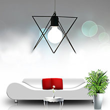 Coquimbo Modern Metal Geometric Pendant Lights Foyer Plug-in Cord 1-Light Hanging Lamp Loft Rustic Home Decoration LED Lamp(China)