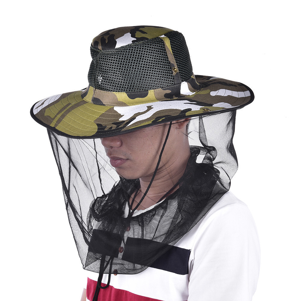 Mosquito Net Protector Face Midge Hat Mesh Insect Travel Bug Head Camping W Hw