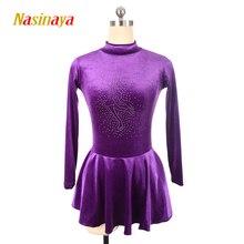 Nasinaya Daiļslidošanas kleita Pielāgota konkurence Slidošanas svārki meiteņu sievietēm Bērni Patinaje Vingrošanas sniegums 9