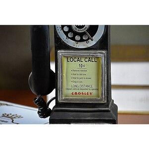 Image 5 - Домашний декор, винтажная модель телефона, настенные подвесные украшения, ретро домашняя мебель, фигурки, миниатюрное украшение для телефона, подарок
