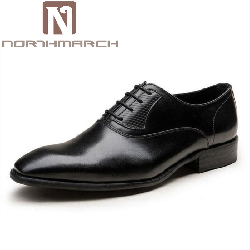 NORTHMARCH Business Formal Shoes Black Mens Square Toe Oxfords Dress Shoes Men Wedding Lace up Flats Tenis Masculino AdultoNORTHMARCH Business Formal Shoes Black Mens Square Toe Oxfords Dress Shoes Men Wedding Lace up Flats Tenis Masculino Adulto
