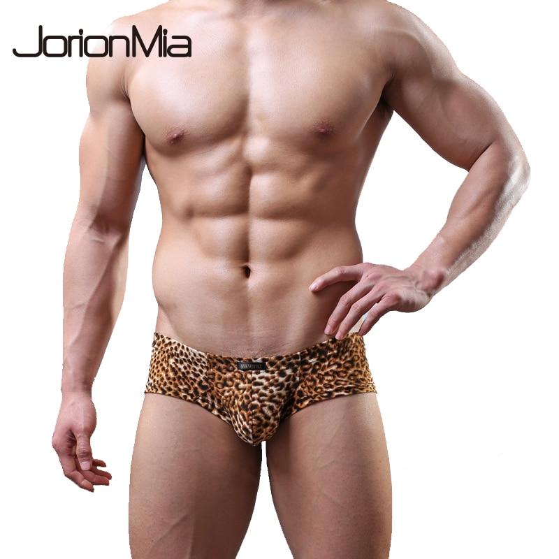 Sexy Underwear Boxer Shorts Men Masculina Slip Soft Leopard B202 Cueca Homme