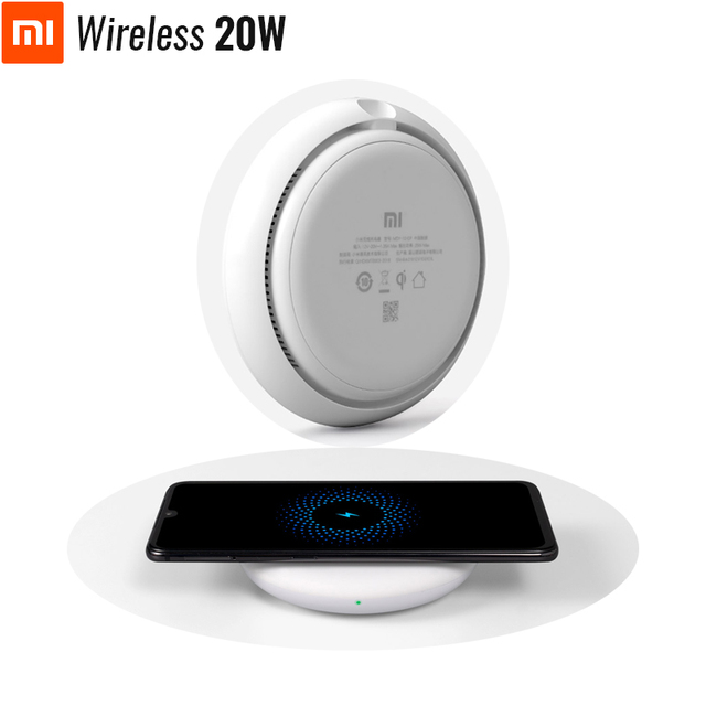 Original Xiaomi Wireless Charger 20W Max Turbo Charging For Mi 9 (20W) MIX 2S / 3 (10W) Qi EPP Compatible Cellphone (5W)