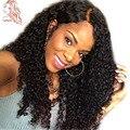 8А Перуанский Фронта Шнурка Человеческих Волос Парики Kinky Вьющиеся Полный Шнурок парики Для Чернокожих Женщин Волосы Младенца Вокруг Фронта Шнурка Человеческих Волос парик