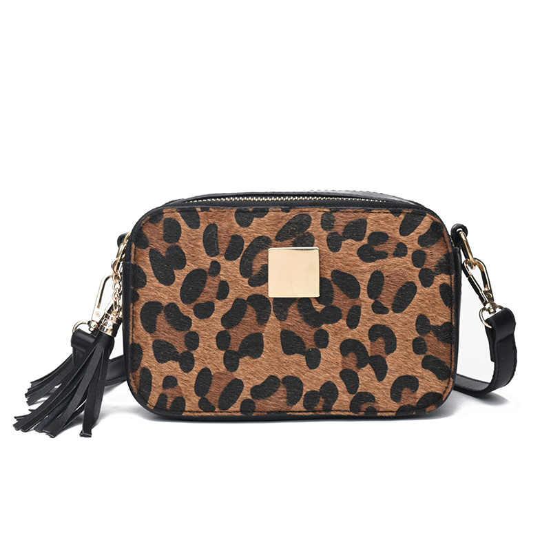 8e1f653aa99d Fashion Famous Designer Small Women Leopard Print Handbags Vintage Leather  Shoulder Bag Tassel Clutch Bags Messenger