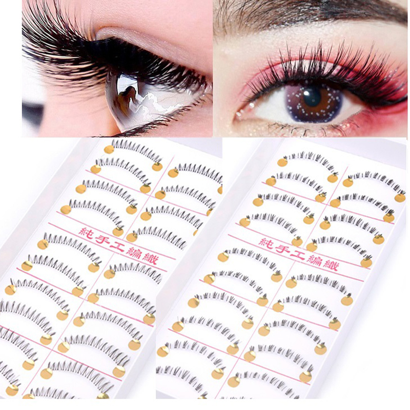 10Pairs Handmade 3D Soft Faux Mink Hair False Eyelashes Criss Cross Wispy Fluffy Lashes Extension Eye Makeup Tools maquillaje