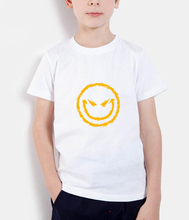Evil Smiley Face kids t shirts streetwear hip hop fashion 2018 summer brand clothing children t-shirts homme boys girls t shirt