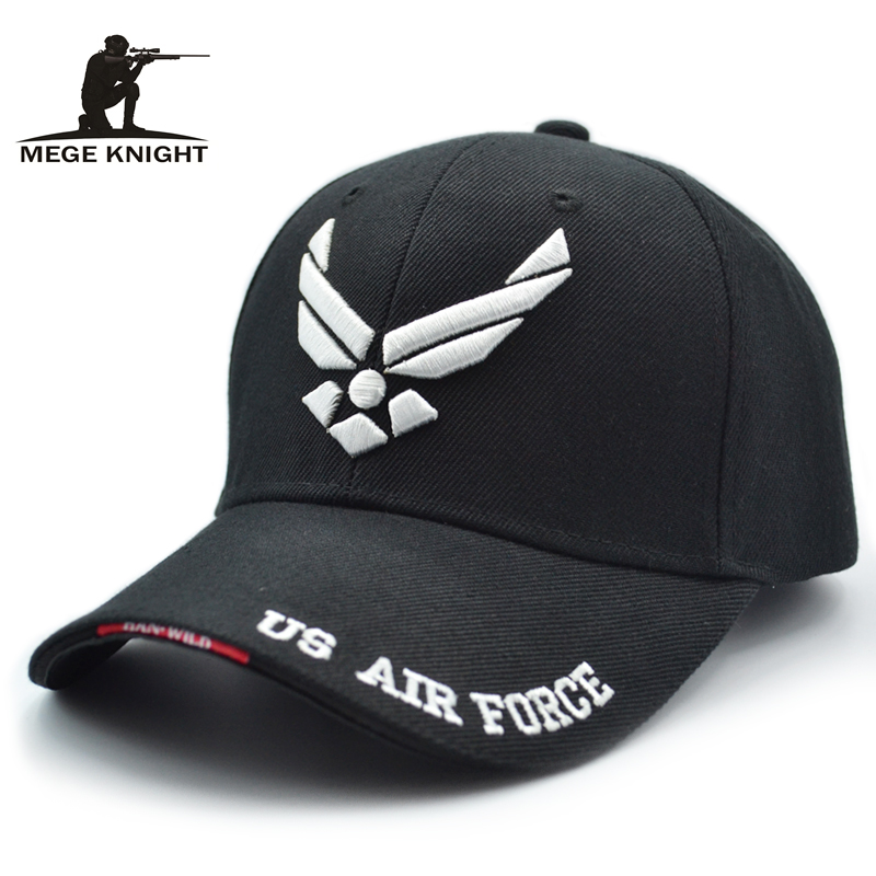 Mege 2017 Hot Selling Men Tactical Cap US Air Force Unisex Adjustable Street Hiphop Baseball Cap Fitted Sunscreen Hats