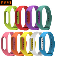 New Xiaomi Mi Band 2 Bracelet Strap Miband 2 Colorful Strap Wristband Replacement Smart Band Accessories For Mi Band 2 Silicone(China)
