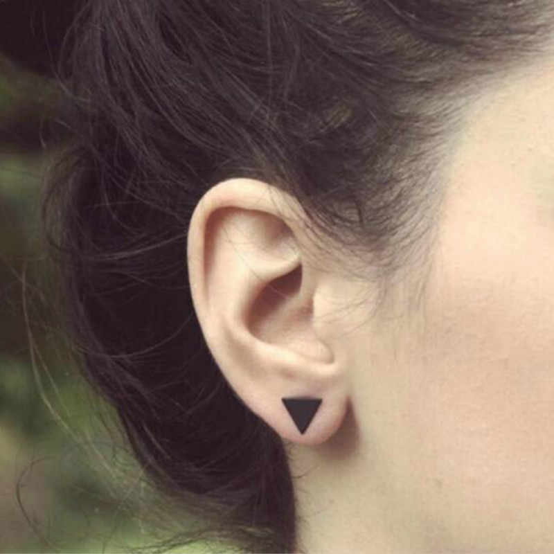 97297a18b ... Punk Black Gold Silver Earrings Simple T Bar Earring Women Girl Ear  Stud Earrings Fine Jewelry ...