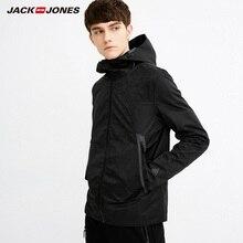 JackJones мужская с капюшоном геометрический узор ветровка C | 218121528
