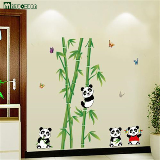 Maruoxuan Chinois Belle Animal De Bande Dessinée Panda Wall