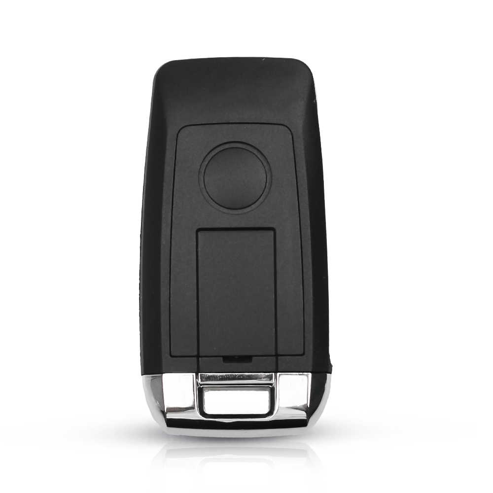 KEYYOU 3 زر تعديل الوجه للطي مفتاح السيارة عن بعد قذيفة الحال بالنسبة لفورد فوكس فييستا Mk C ماكس K HU101 شفرة