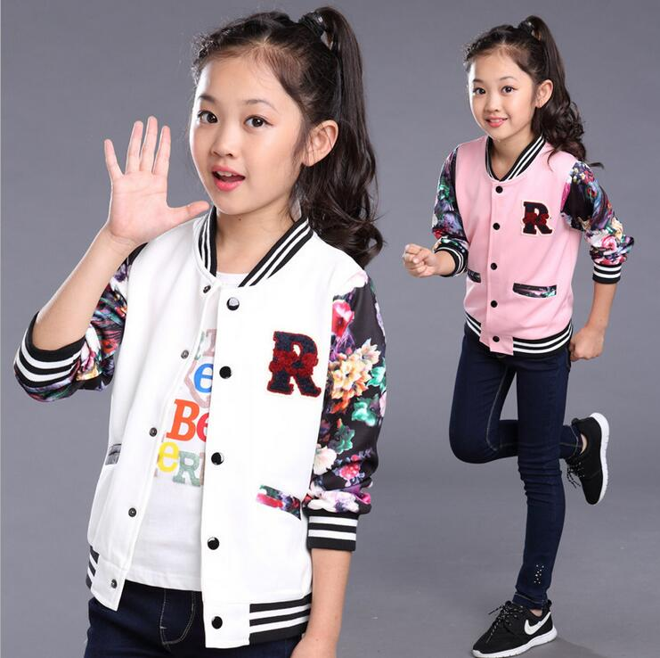 New Baby Girls Coats Kids Cotton Flower Spring And Autumn Jacket Children Lovely Clothes Hot Sale