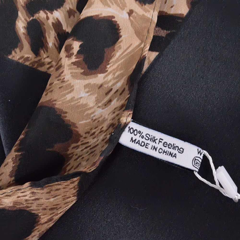 [BYSIFA] Caffè nero Della Stampa Del Leopardo Piazza Sciarpe Stampate 2016 Nuovo Disegno Crepe Raso di Seta Delle Signore di Inverno Sciarpe Wraps 130*130 centimetri
