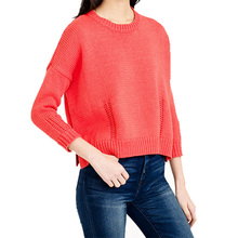100% cashmere loose thick split pullovers O-neck full sleeves solid color knitting sweater autumn/winter clothing