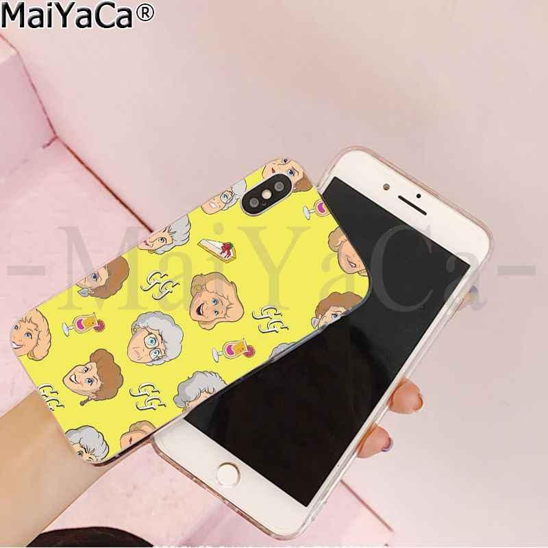 MaiYaCa Vàng Bé Gái Họa Tiết Bé Gái Trong Suốt TPU Cao Su Mềm Ốp Lưng điện thoại Apple iPhone 8 7 6 6S plus X XS MAX 5 5S SE XR