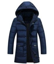 2017 New Stylish Hood Winter Jacket Coat Men Solid Color Warm Hooded Parka Men