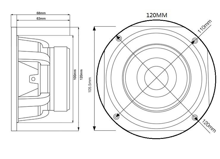 Ghxamp 2pcs 4 Inch 35w Fever Full Range Speaker Neodymium Steel
