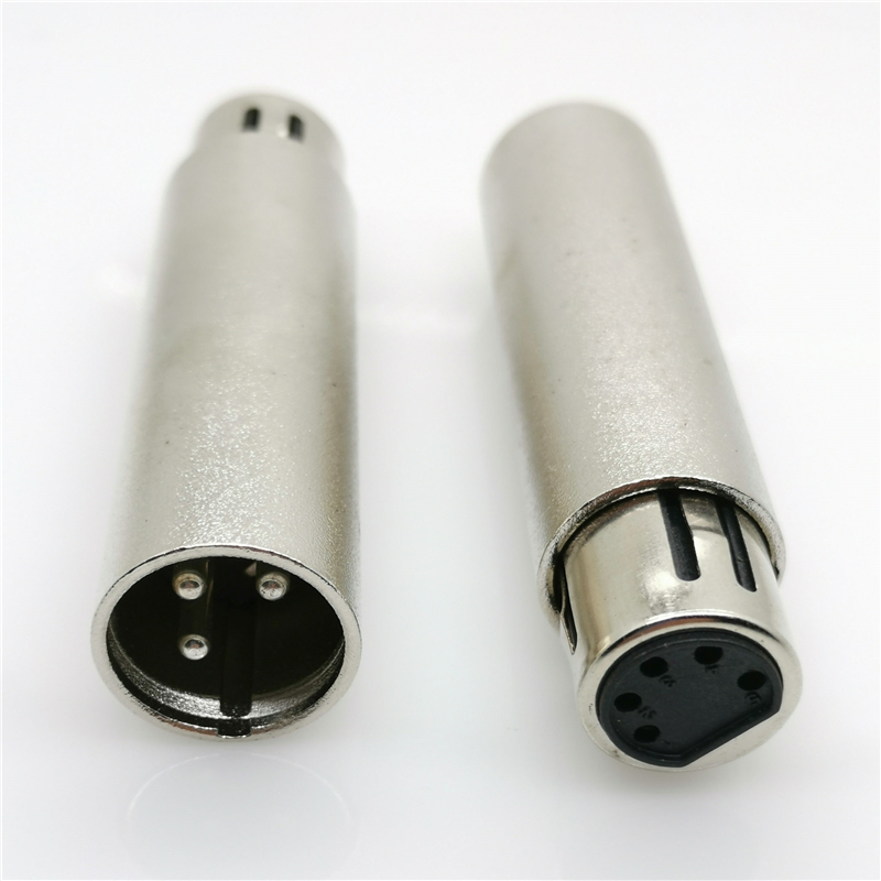 1//5pcs Neutrik NC3FD-LX-B black gold plated 3-core XLR cannon female socket