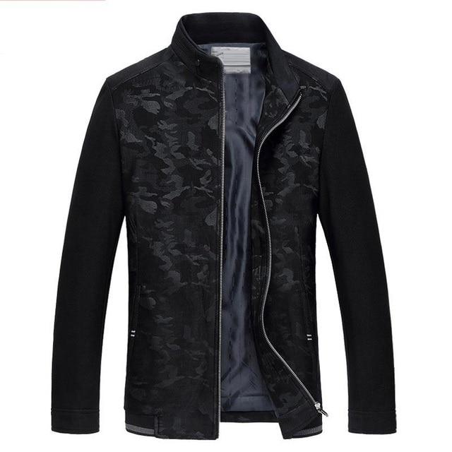 2016 новый осень печатных Камуфляж высокое качество мужская черный повседневная куртка, куртка мужчины, размер M, L, XL, XXL, XXXL