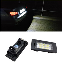 2pcs Car LED Number License Plate Light For BMW E39 M5 E70 E71 X5 X6 E60 M5 E90 E92 E93 M3 E88 E82 Exterior Accessories error free led license plate light for bmw e82 e88 e90 e92 e39 e60 e61 m5 sedan e70 x5 e71 e72 x6 5 series