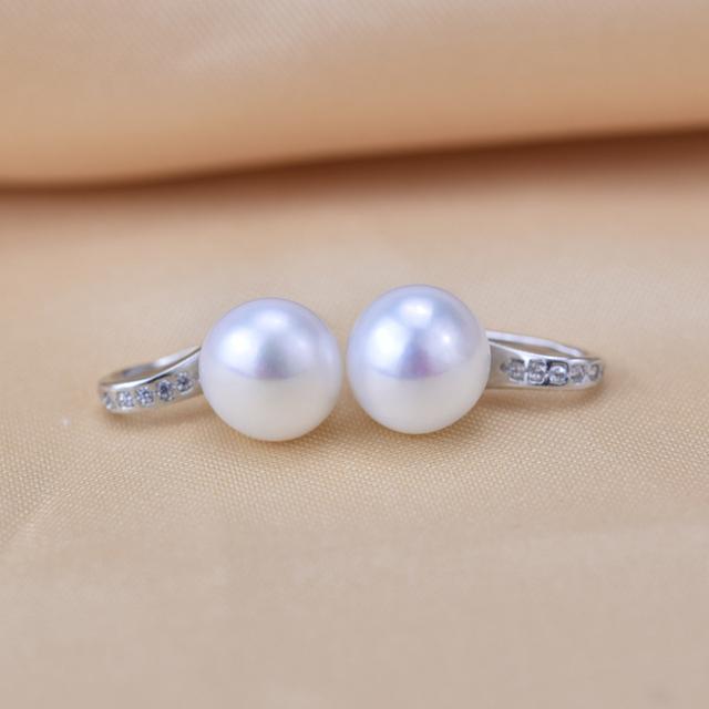 ZHBORUINI 2019 Fashion Pearl Earrings Natural Freshwater Pearl zircon Earring 925 Sterling Silver Jewelry For Women Gift Box