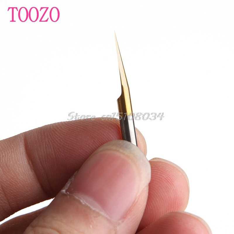 10 قطعة 15 درجة 0.1 مللي متر التيتانيوم المطلي كربيد PCB الحفر أدوات لقمة تشكيل أحرف القطع الخشبية G08 Whosale و دروبشيب