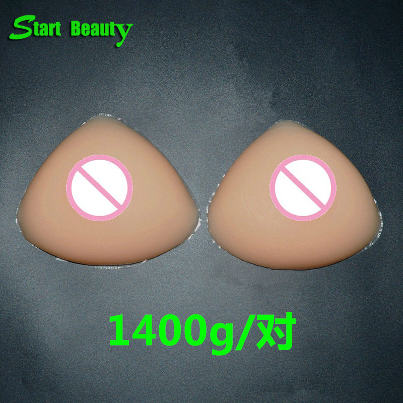 1400g/pair D Cup fake silicon breast form false breasts Enhancer Boobs Pads Fake faux seins vagina transgender drag queen