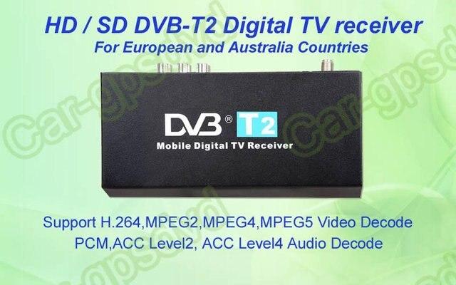 Mobile Digital Car DVB-T2 H.264 MPEG4 HD Tuner Digital TV Receiver Box set top DVB-T2 (HD/SD), HDMI Car TV tuner