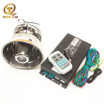 Alarm Horn 12V 400W Train Truck Speaker System Police Siren Car Alarm Sound Wireless Remote Megaphone Tone for VW Skoda Toyota