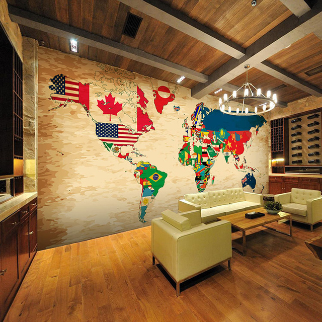 Retro world countries flags map large 3d room wallpaper mural rolls retro world countries flags map large 3d room wallpaper mural rolls for wall 3 d tv gumiabroncs Images