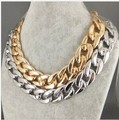 n217 2016 simple wedding elegant metal strip thick gold plated necklace chain sweater simple clavicle jewelry women