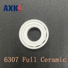 ФОТО 2018 rolamentos rodamientos axk 6307 full ceramic bearing ( 1 pc ) 35*80*21 mm zro2 material 6307ce all zirconia ball bearings