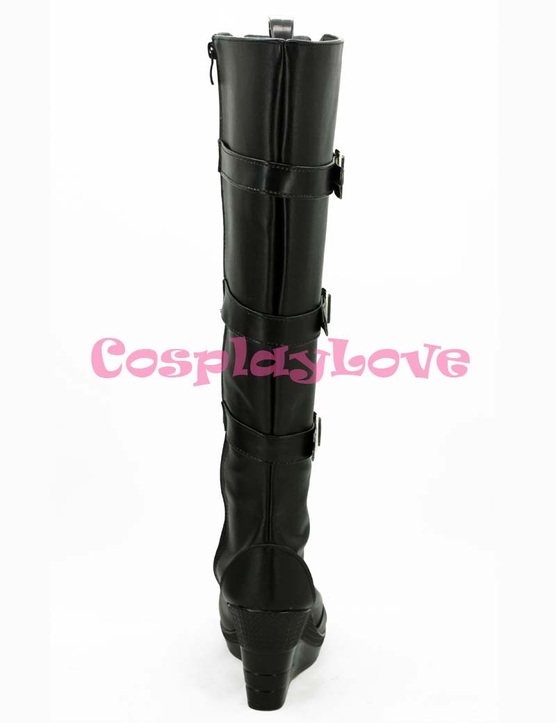 Newest Custom Made American Movie Iron Man 2 Black Widow Natasha Romanoff Cosplay Shoes Long Boots For Halloween Christmas-in Shoes from Novelty & Special Use    2
