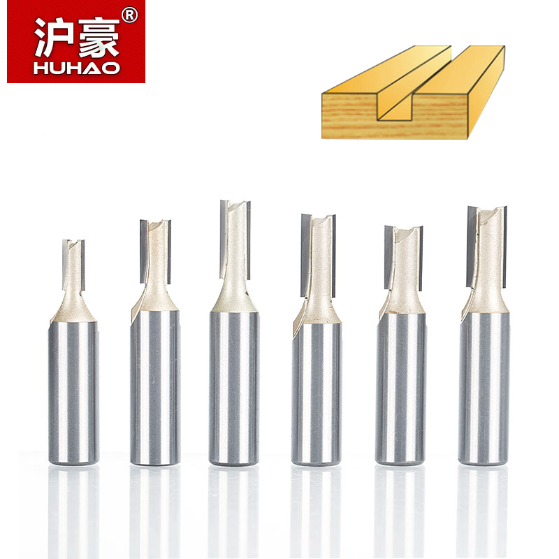 HUHAO 1pc 1/2Shank 2 Flute Straight Bit Woodworking Tools Router Bits for Wood Tungsten Carbide Endmill Slotting Milling Cutter huhao 1pc 1 2 shank woodworking router bits two flute milling cutter double finger end mill for wood cutting cnc tools