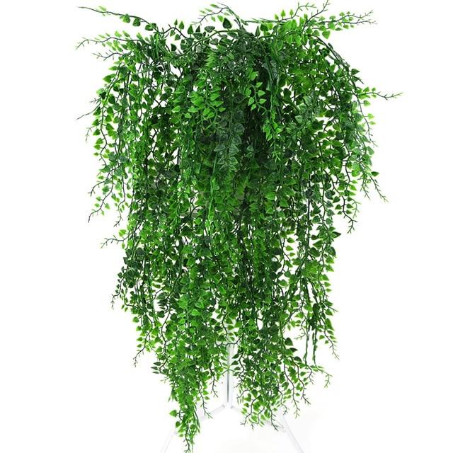 82 см искусственные зеленые горшечные растения стена из виноградных лоз Висячие поддельные листья растения для украшения дома сада имитация искусственная Орхидея цветок ротанга