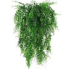 82cm sztuczna zielona roślina winorośli ściany wiszące sztuczne liście roślina do dekoracja do przydomowego ogrodu symulacja orchidea sztuczny kwiat Rattan