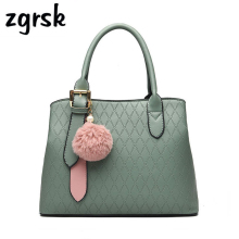 Handbags Korean Style Big Solid Pu Lock Zipper Leather Shoulder Bag Women Brown Vintage Sac Main Femme