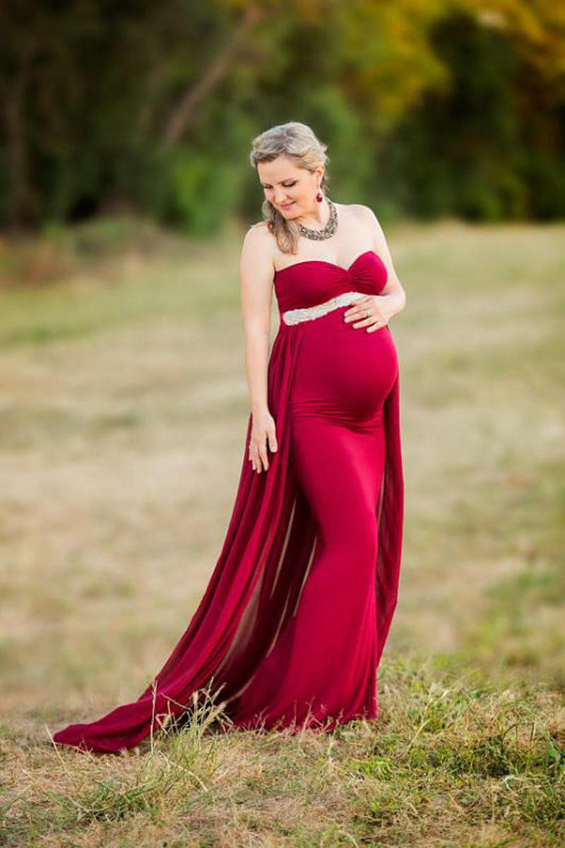 2018 Women Pregnancy Dress For Photo Shooting Sexy Off Shoulder Maxi Maternity Gown Chiffon Maternity Dresses Photography Props (8)
