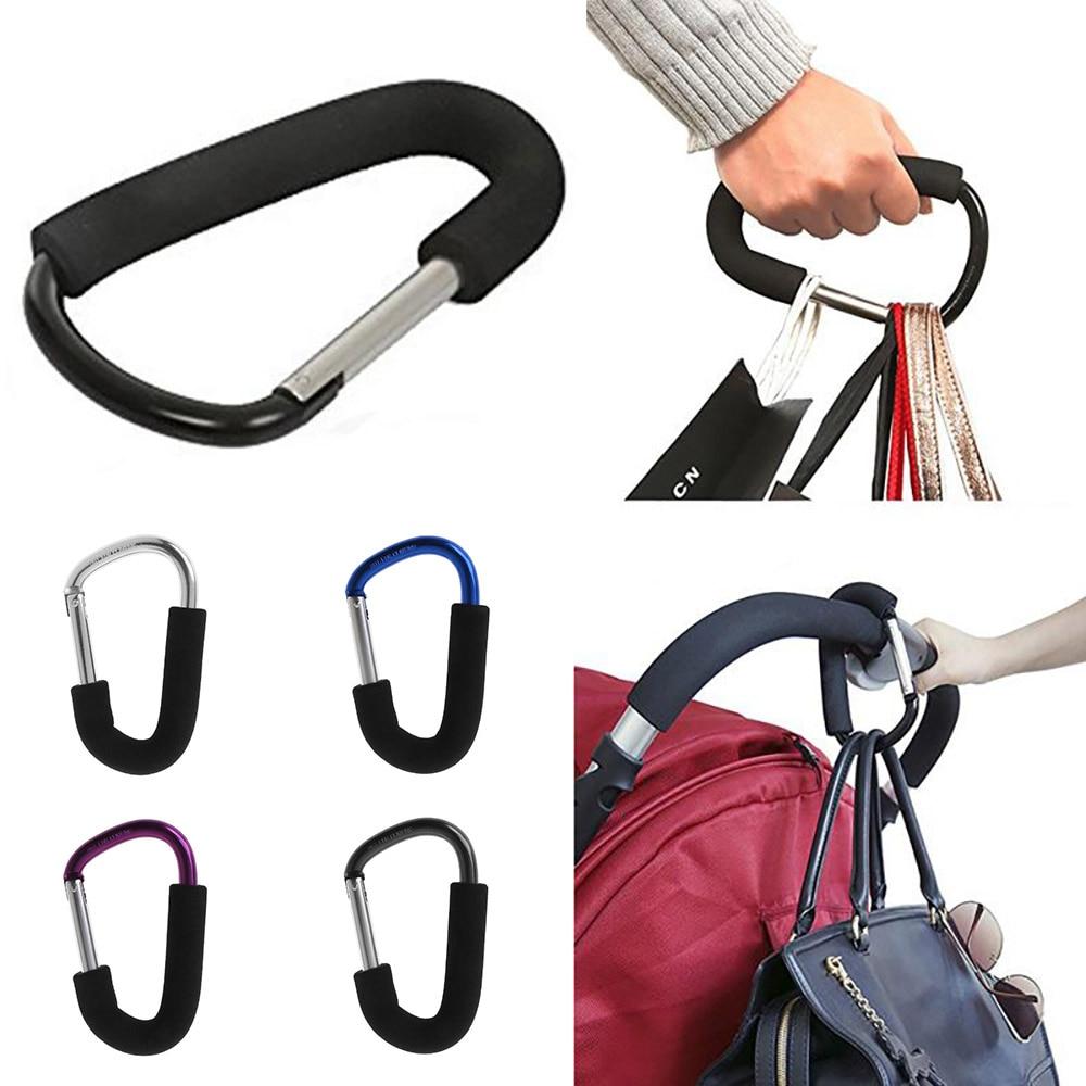 Safety Carabiner Stroller Mommy Hook Hanger Stroller Clips Grocery Bag Holder Handle Tool Organizer Assistant Clips Hanger