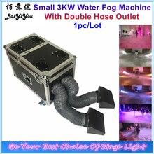 1x Neue 3000W Doppel Outlet Wasser Nebel Maschine 3KW Wasser Basis Low Boden Nebel Rauch Maschine Mit Doppel Schlauch für Hochzeit Party