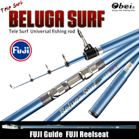 obei surfcasting distance throwing tele surf power strong long cast high quality fuji components carbon telescopic fishing rod