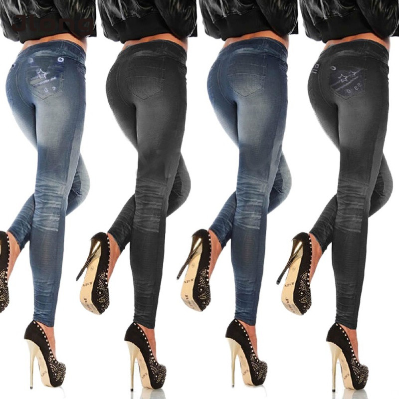 Sexy Women Casual Skinny Butterfly Printed Jegging Pencil Pants High Waist Stretchy Slim Jeans One Size Leggings 2019 NEW