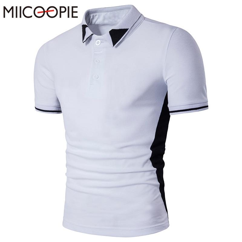f42a14ec0d Nueva moda hombres Polo camisa marcas casual manga corta hombres de algodón  Polo camisa slim fit camisa Polo hombre verano superior masculina Camisetas  Tees